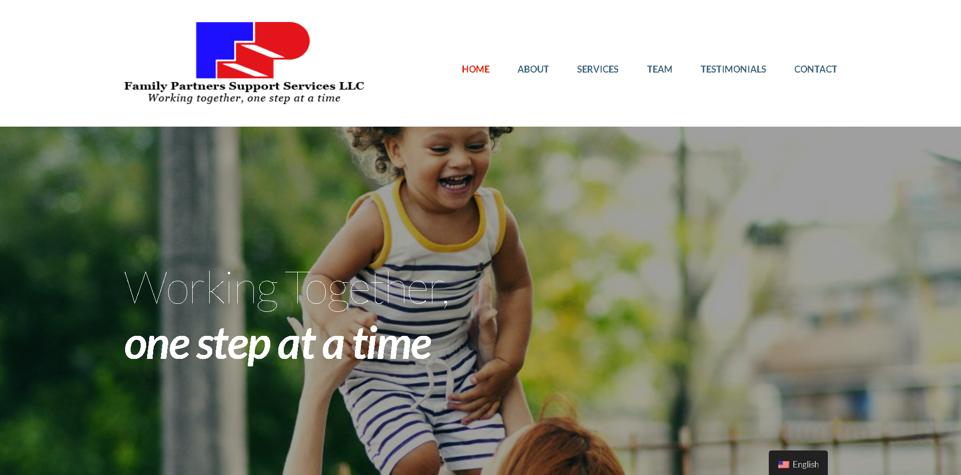 Screenshot: Family Partners Support Services LLC homepage