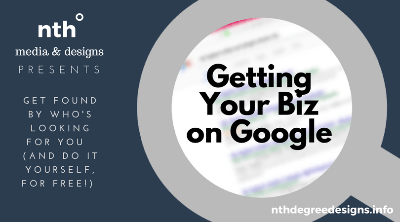 Graphic: Getting Your Biz on Google webinar May 17