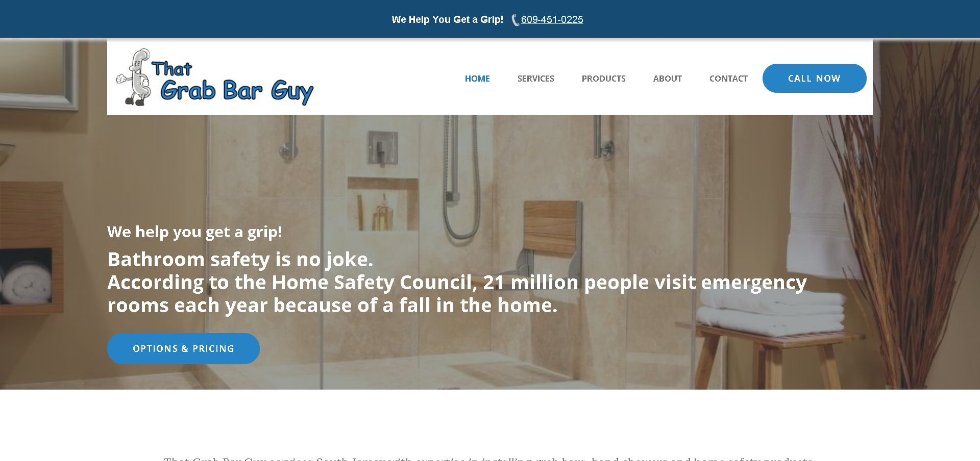 Screenshot: ThatGrabBarGuy.com Home