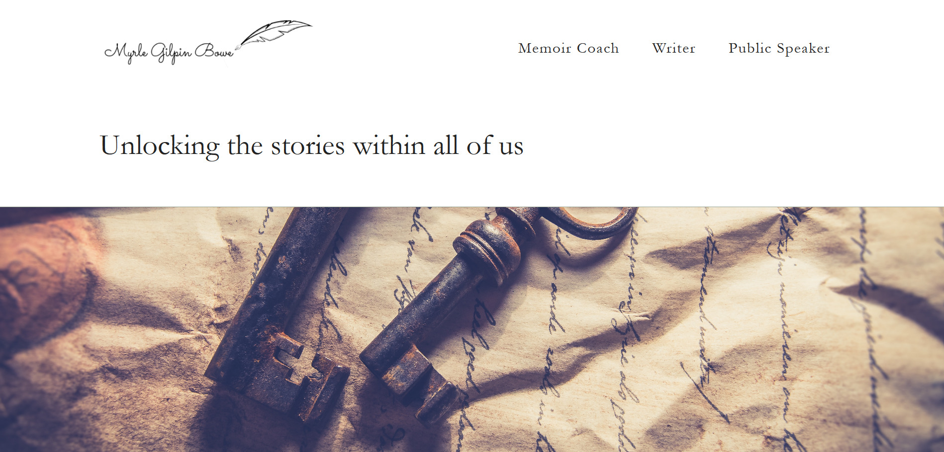Myrle Gilpin Bowe memoir coach writer and speaker homepage