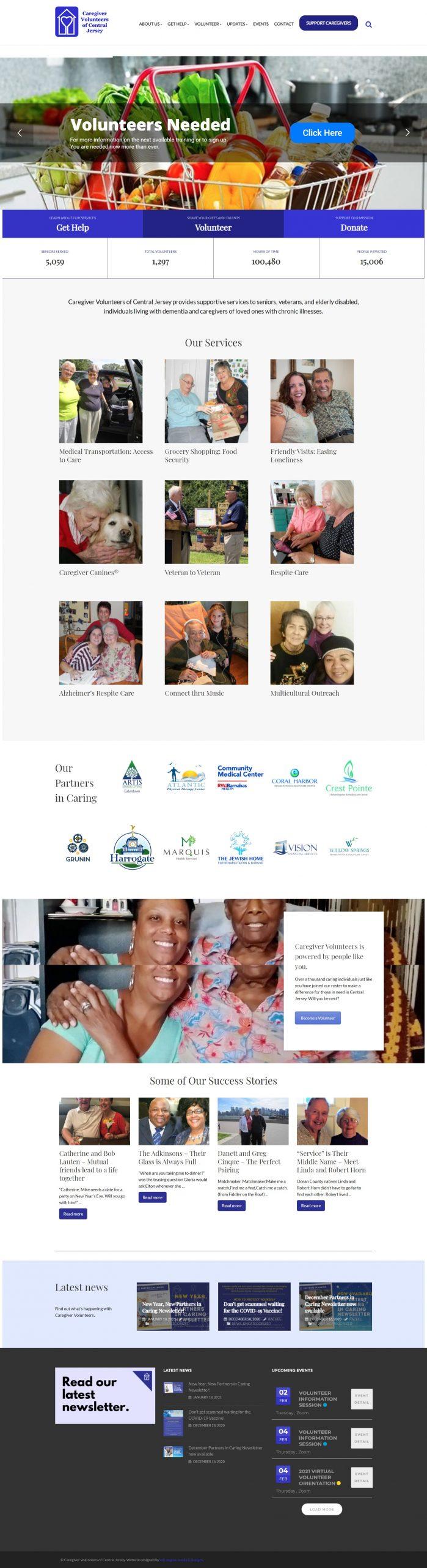 caregiver volunteers of central jersey wordpress development (2)