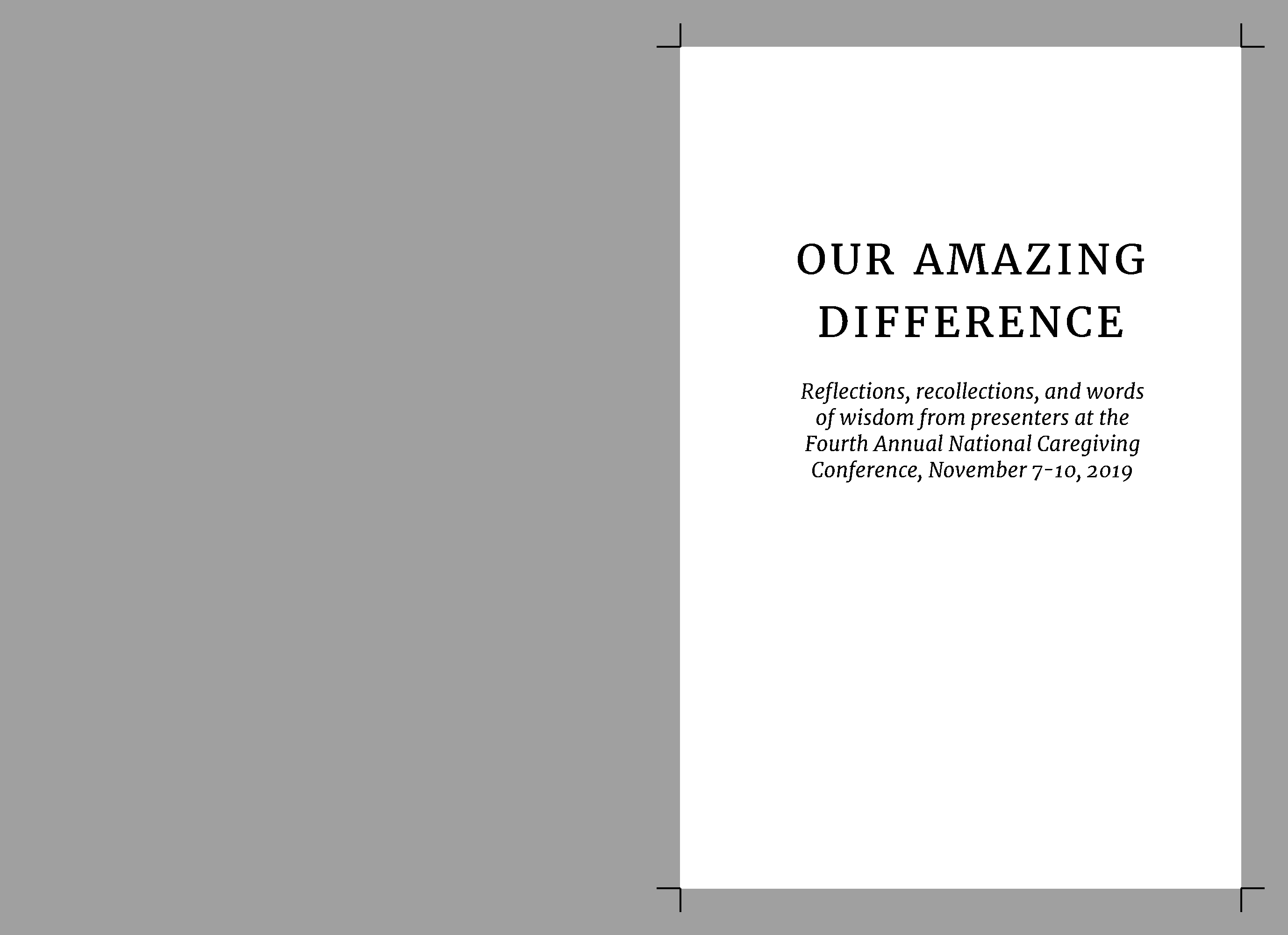 Our Amazing Difference Print book compilation